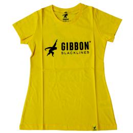 GIBBON ロゴTシャツ イエロー【レディース】