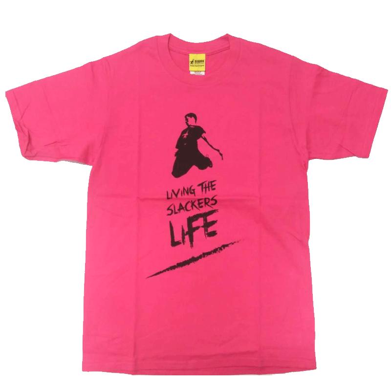 GIBBON JAPAN スラッカーズライフTシャツ ピンク
