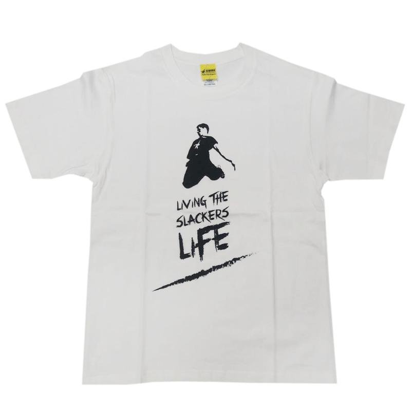 GIBBON JAPAN スラッカーズライフTシャツ ホワイト