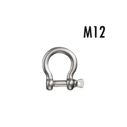 ステンレスボウシャックル(弓シャックル)M12 使用荷重1t