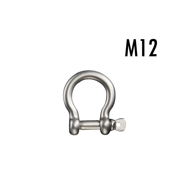 ステンレスボウシャックル(弓シャックル)M12