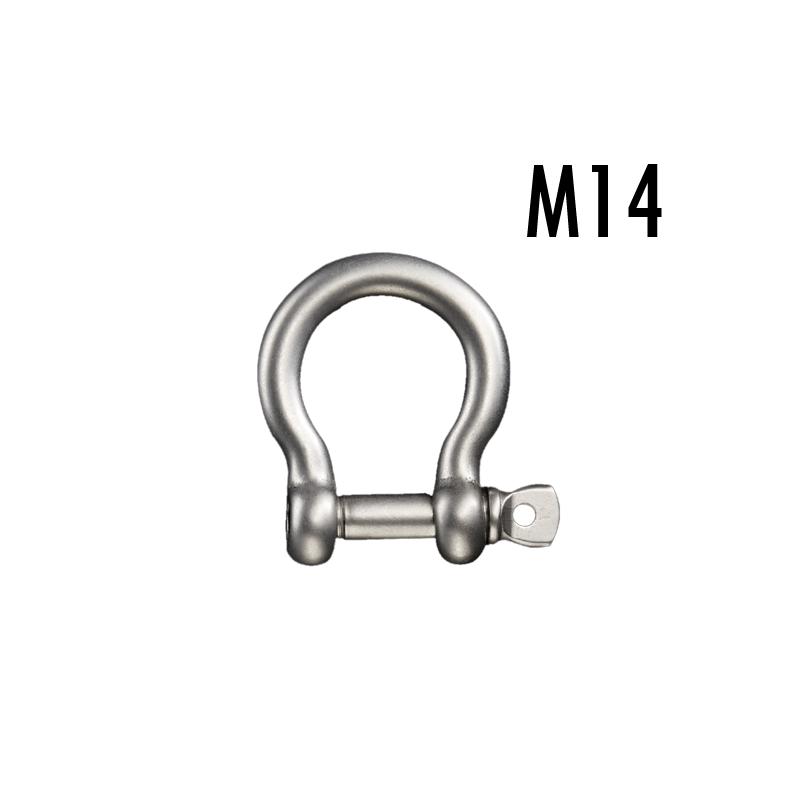 ステンレスボウシャックル(弓シャックル)M14 使用荷重1.5t