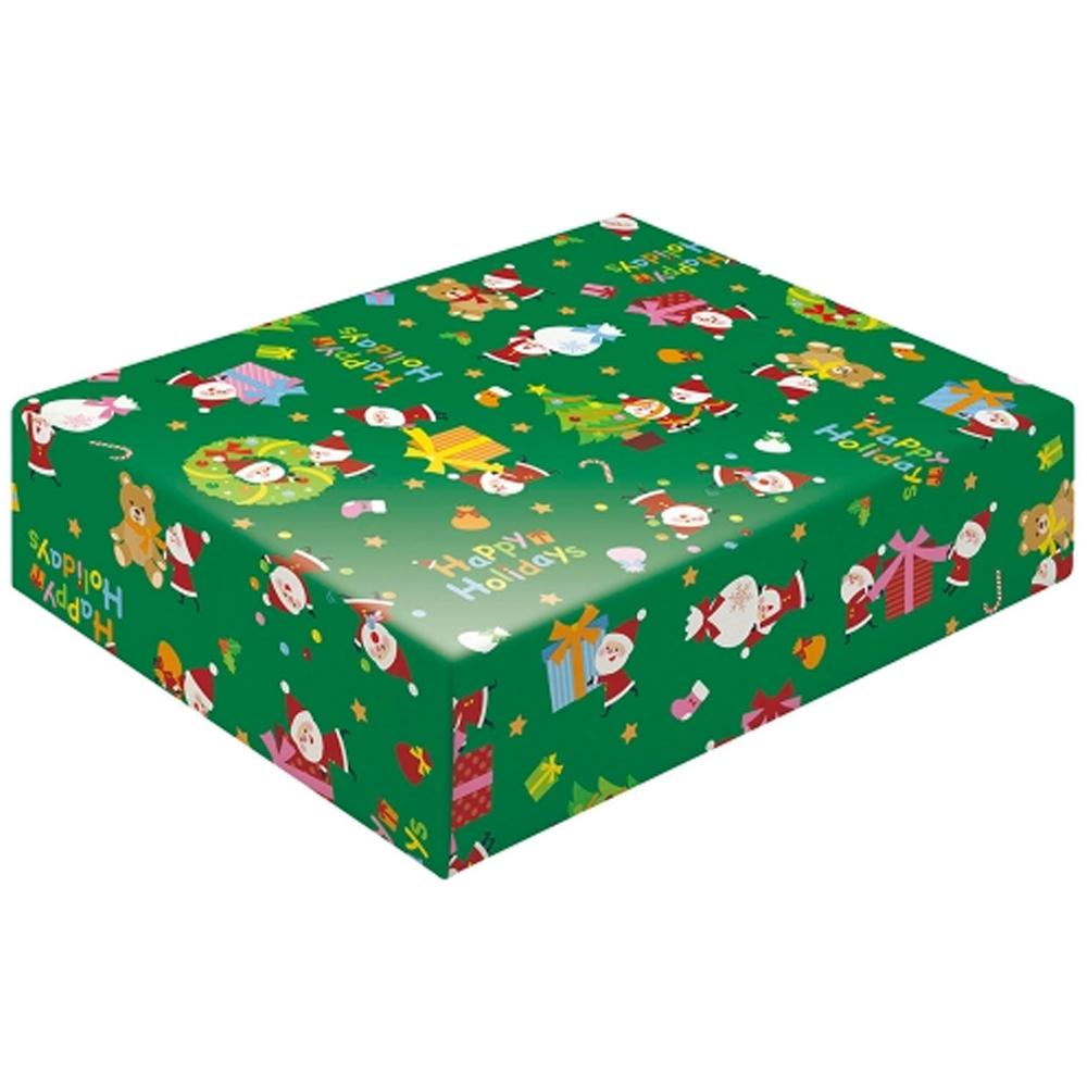 クリスマス包装紙 グリーン
